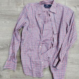 L collared button shirt